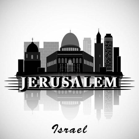 Modern Jerusalem City Skyline Design. Israel
