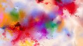 """Постер, картина, фотообои """"Абстрактные красочные картины маслом на холсте текстуру. Рука нарисованные кисти, масло цвет картины фона"""""""