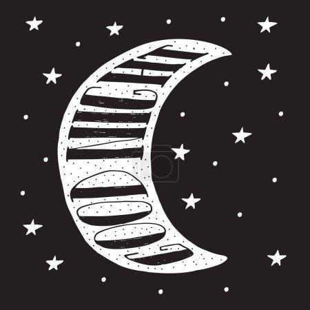 Good night modern lettering poster