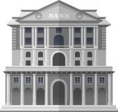 Bank of England London Vector Isolated Illustration