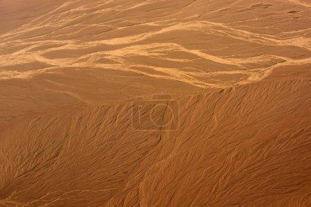 sable désert paysage vue aérienne