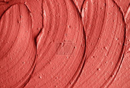 Red moroccan cosmetic clay texture close up. Abstract background.