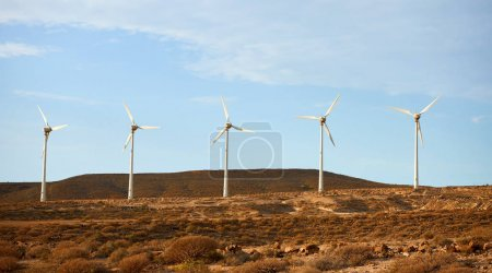 Five wind turbine