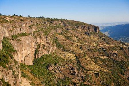 Photo pour Beau paysage photographié près de Debre Libanos en Ethiopie - image libre de droit