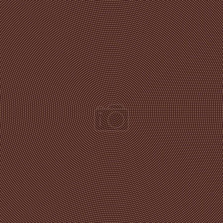 Illustration for Geometric modern vector pattern. Golden ornament with dotted elements. Geometric abstract brown and golden pattern - Royalty Free Image