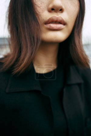 beautiful asian woman face