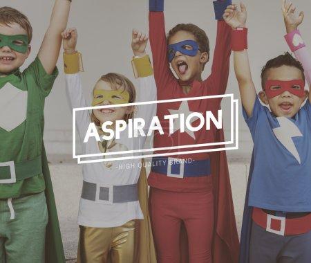Superheroes Kids have fun