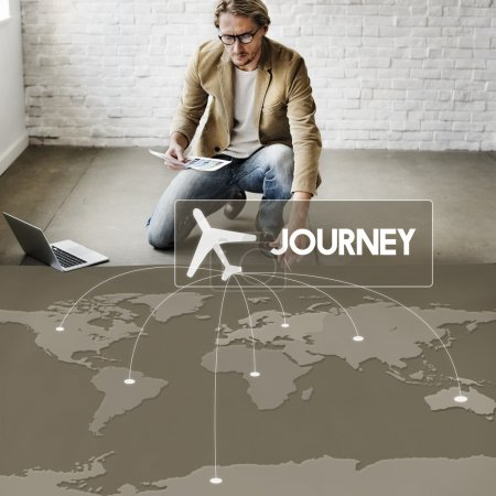 businessman working with Journey