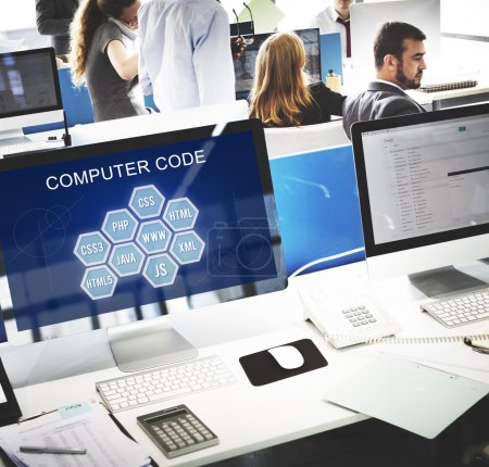 computer monitors with Computer Code