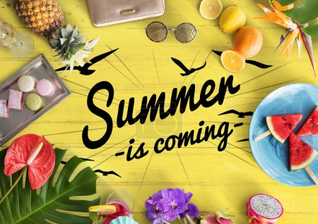 Colorful text and Summer things