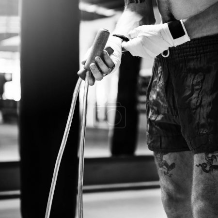 Boxer Jump in Rope