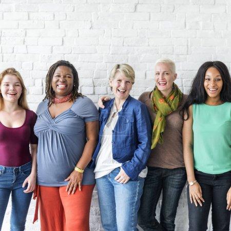 Photo for Diversity smiling women, Community Concept, original photoset - Royalty Free Image