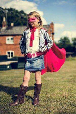 Superhero Girl outdoors