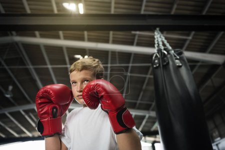Boy Training Boxing Exercis