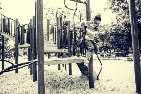Little Boy in Playground