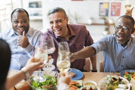 People having Food together