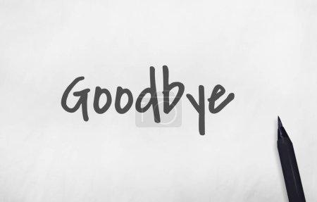 Photo pour Au revoir inscription d'adieu du marqueur noir Concept - image libre de droit