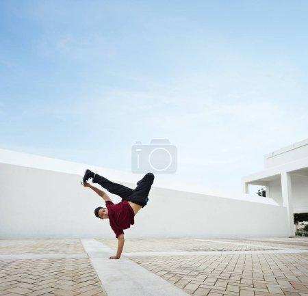 guy dancing Breakdance