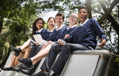 Diverse Students in College Uniform