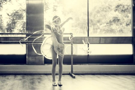 Dancing Ballerina with ribbons