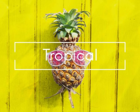 pineapple and Summer Concept