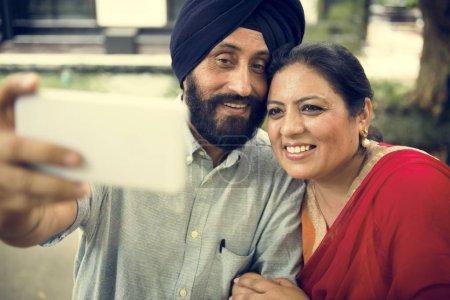Indian Couple Taking selfie