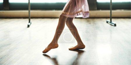 Dancing Ballerina in Ballet School