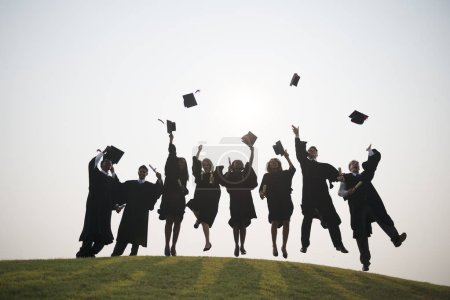 Group of students of graduates