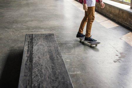 skateboarder riding on skateboard