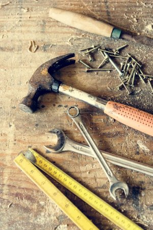 woodworking tools in the workshop