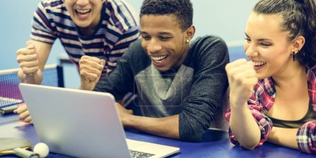 diversity people Using Laptop
