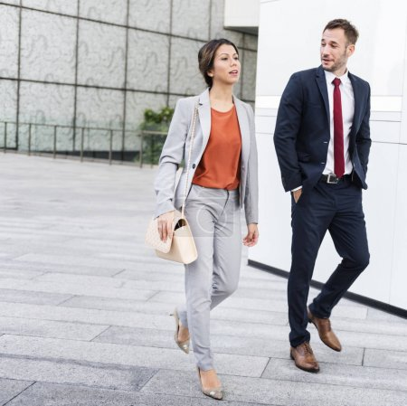 Business People Walking to office