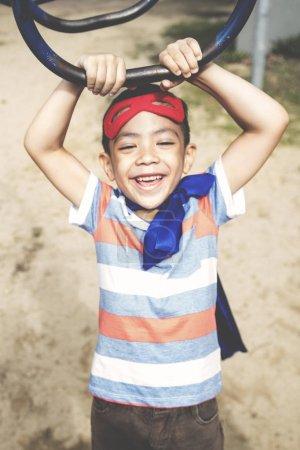Little Boy at Playground Yard