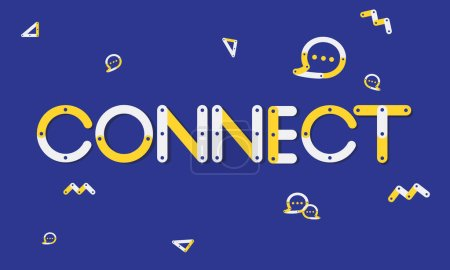 Graphic Text and Connect Concept