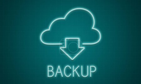Graphic Text and backup Concept
