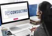 Podnikatelka, práce na počítači