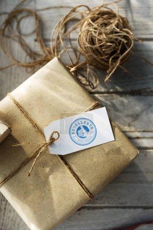 present box in craft paper
