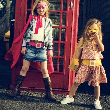 Superheroes girls in Costumes