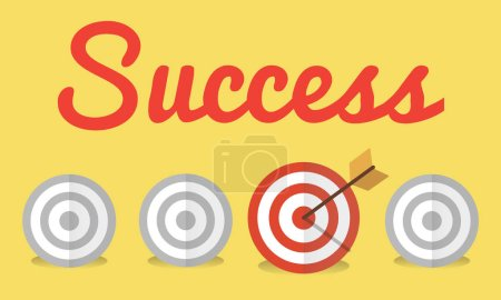 Graphic Text and Success Concept