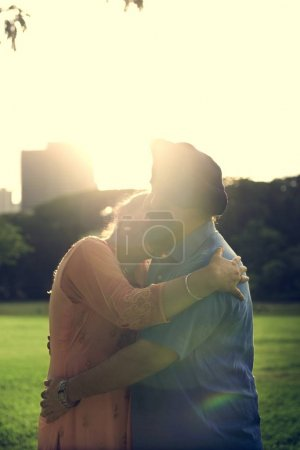 Indian Couple in Love enjoying outdoors