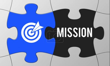 Graphic Text and Mission Concept