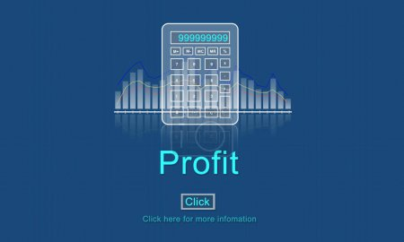 Graphic Text and Profit Concept