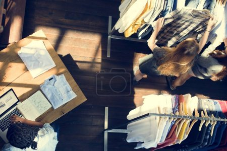 Woman working in Fashion Store