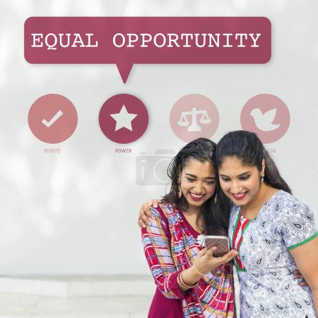 Indian women with mobile phone