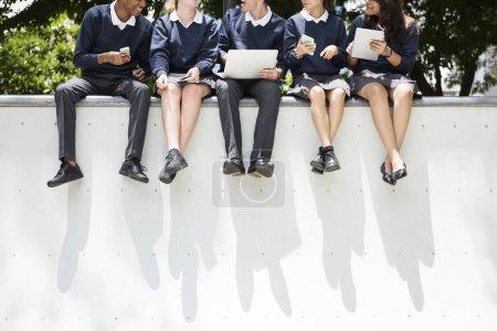 Diverse Students in school uniform