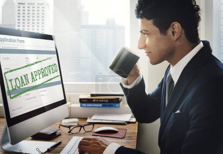 Business man working with computer