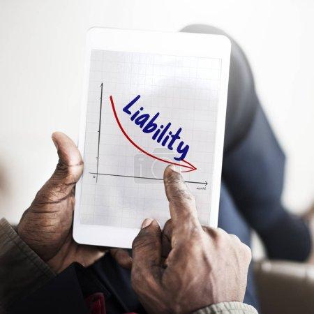 Man hands holding digital tablet