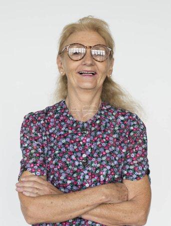 attractive Senior Woman in glasses