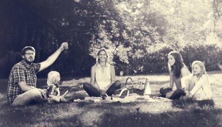 Family Enjoying Picnic