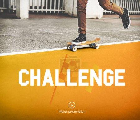 Boy skateboarding on the road